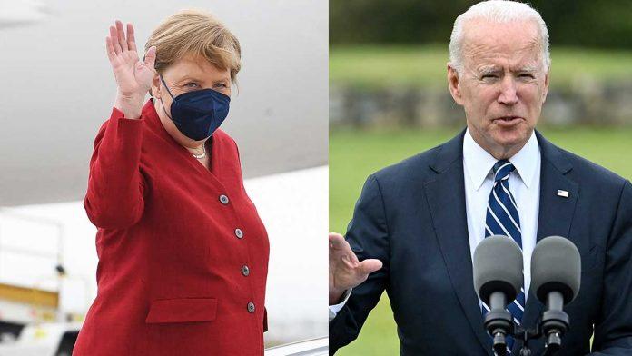 Biden y Merkel